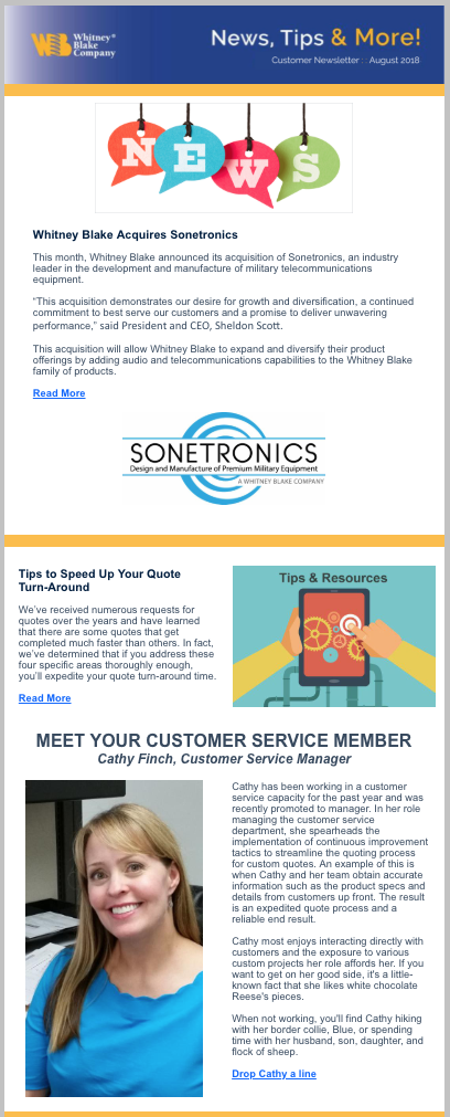 August 2018 eNewsletter