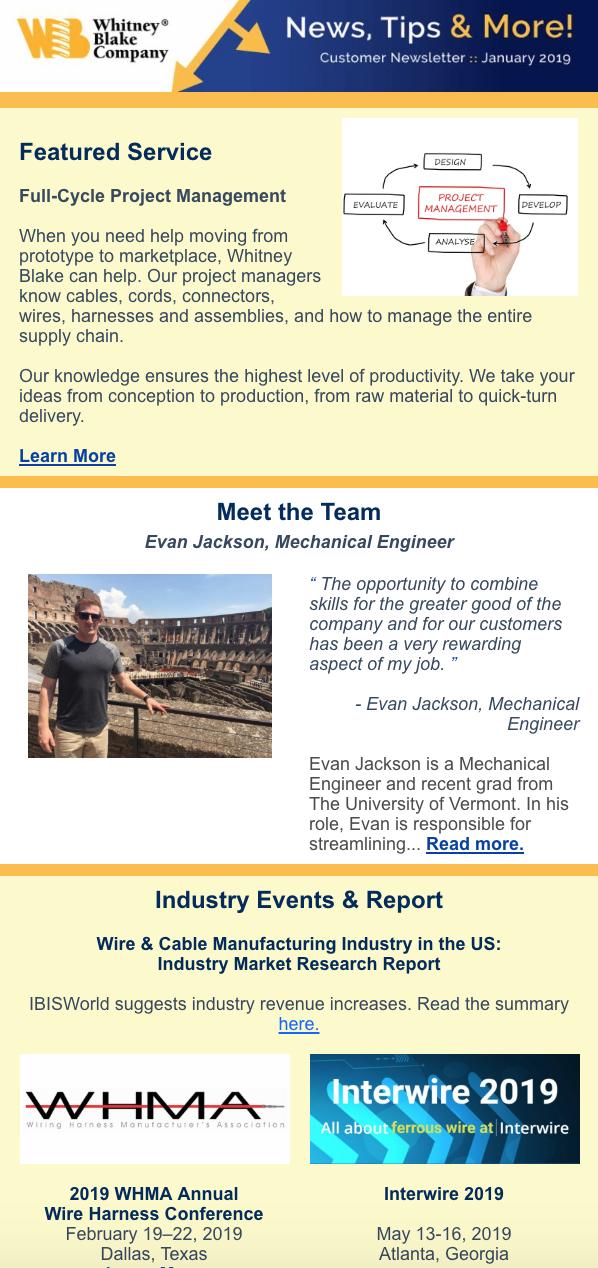 January 2019 eNewsletter